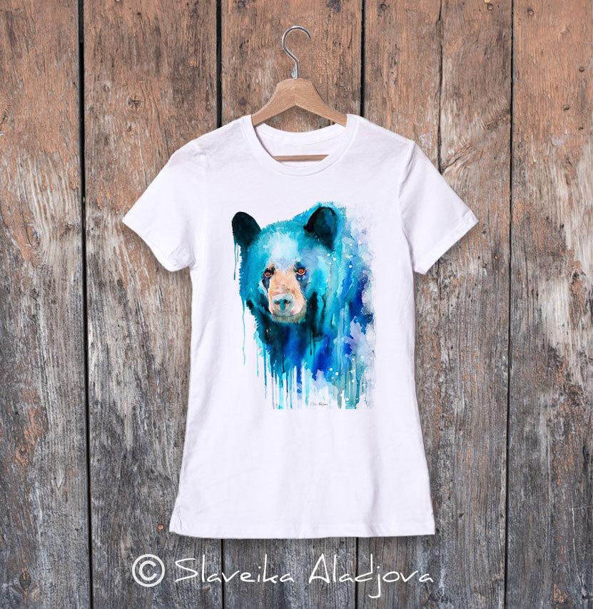 дамска тениска черна мечка