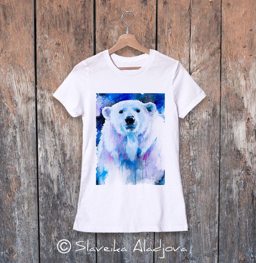 дамска тениска полярна мечка