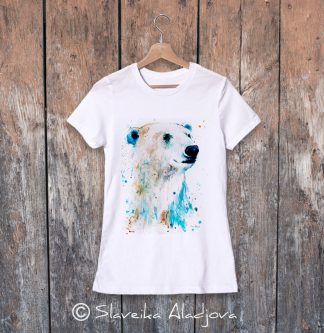 дамска тениска полярна мечка 2