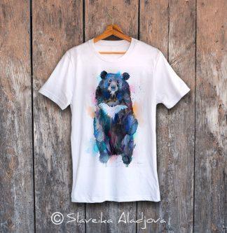 мъжка тениска аиатска черна мечка