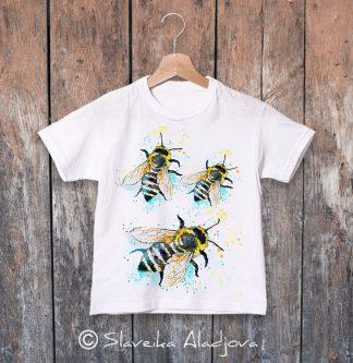 детска тениска с пчели