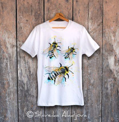 мъжка тениска с пчели