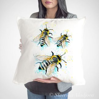 възглавница с пчели