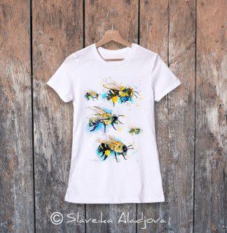 дамска тениска с пчели