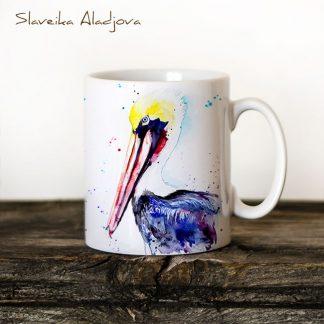 чаша кафяв пеликан