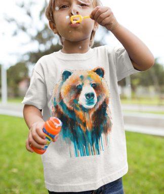 Детска тениска с мечка гризли