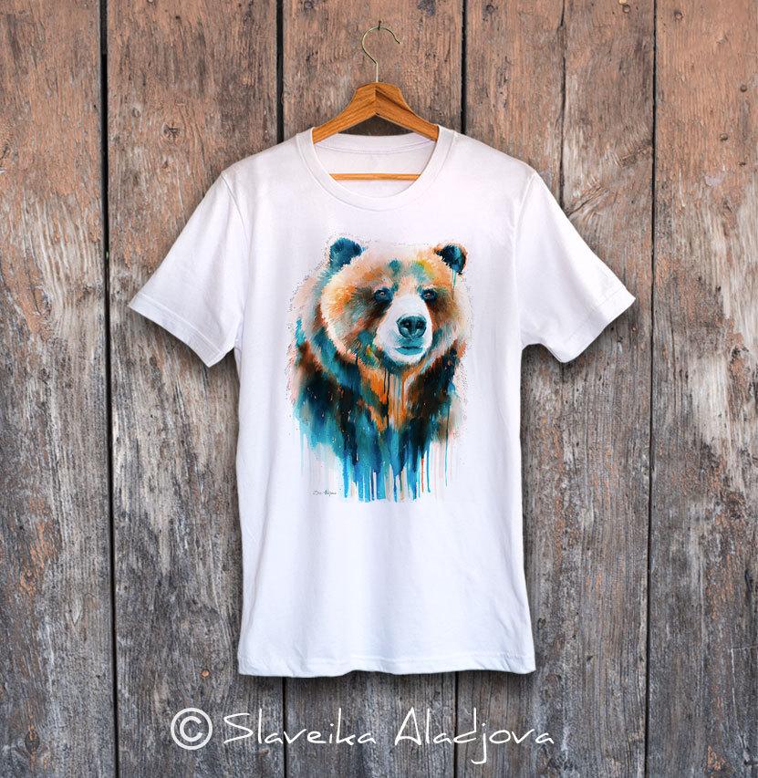 Мечка гризли тениска