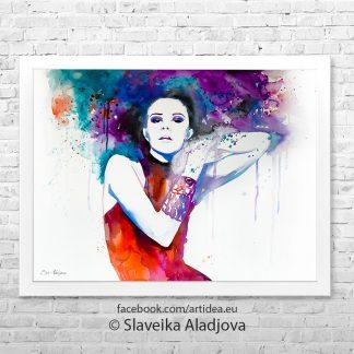Жена с цветни коси