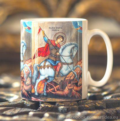 Чаша с икона на Свети Георги