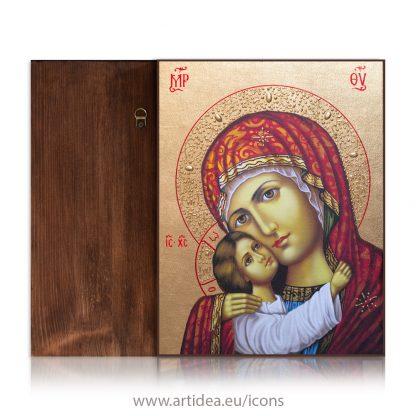Рисувана икона на Богородица