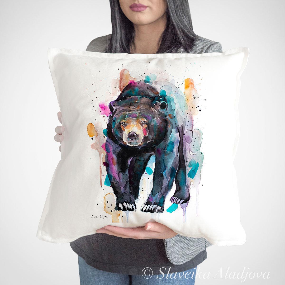 декоративна възглавничка слънчева мечка