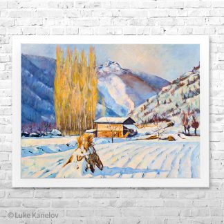 Картина Пейзаж Зима 1