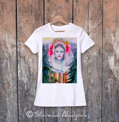 дамска тениска с пиринска мома