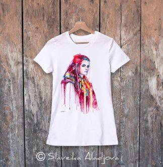дамска тениска с пиринска мома 3