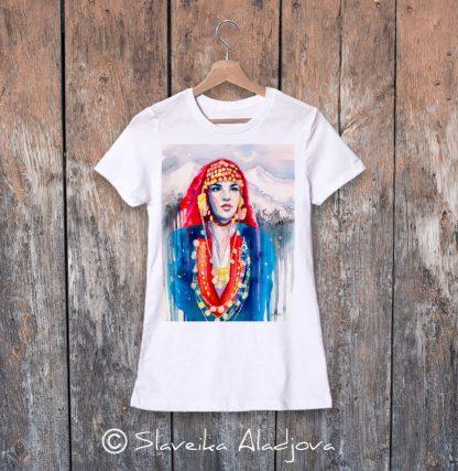дамска тениска с пиринска мома 2