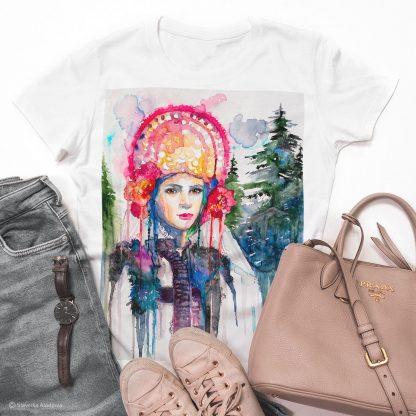 Унисекс тениска - Северняшка мома, фолклорен мотив