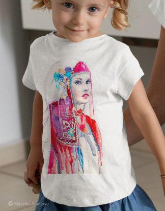 детска тениска с мома родопска