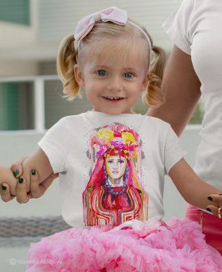 детска тениска с мома тракийска