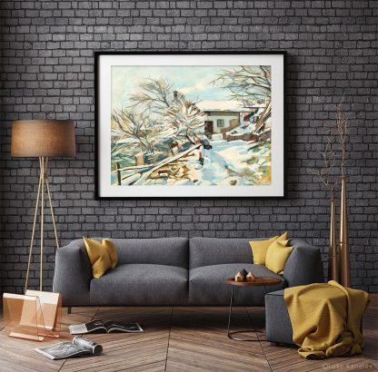 Картина пейзаж Топлината на зимата