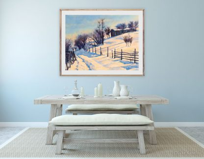 Картина пейзаж Зимна вечер