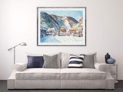 Картина пейзаж Топъл сняг