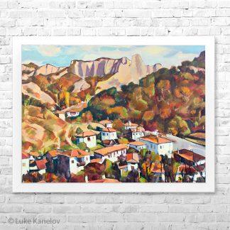 Картина пейзаж Утро в Мелник