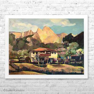 Картина пейзаж Бащината къща
