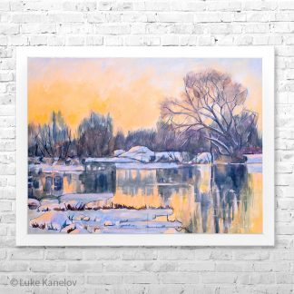 Картина пейзаж Изумрудена река