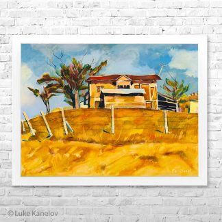 Картина пейзаж Къща на хълма