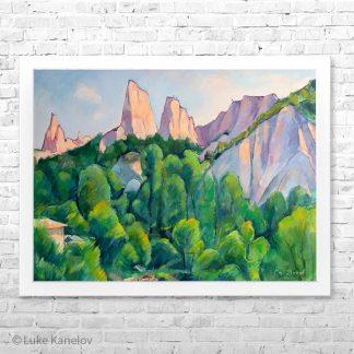 Картина пейзаж Изгрев в Мелник