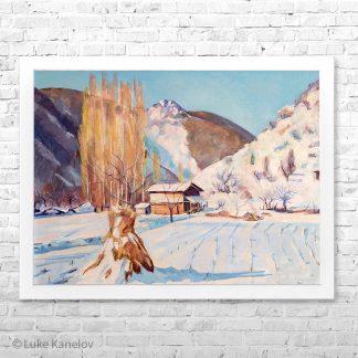Картина пейзаж Зима в Железница