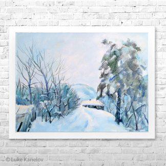 Картина пейзаж Зимна приказка