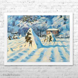 Картина пейзаж Топла зима