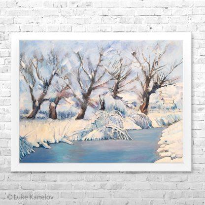 Картина пейзаж Ледената река