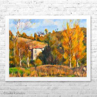 Картина пейзаж Есенна палитра