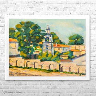 Картина пейзаж Утро в Благоевградската черква