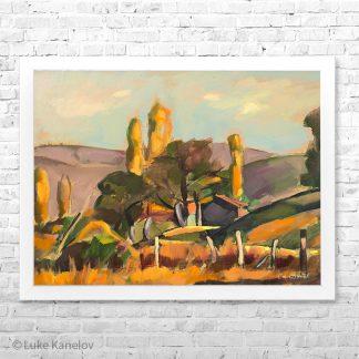 Картина пейзаж Есен на село