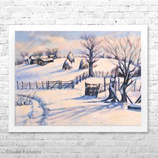 Картина пейзаж Снежна пътека