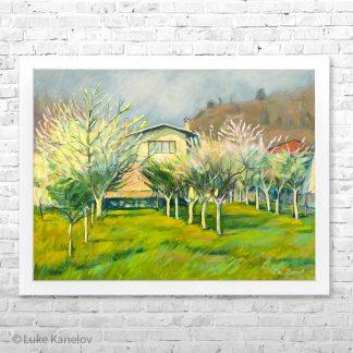 Картина пейзаж Пролетна приказка