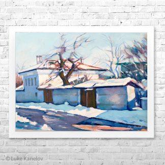 Картина пейзаж Зима в Банско