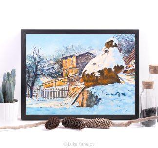Картина пейзаж купа в снега