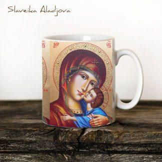 чаша с икона на света богородица умиление
