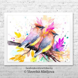 Картина с птици