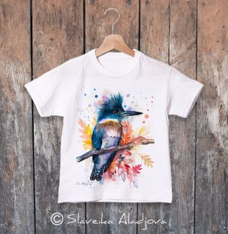 детска тениска препасково земеродно рибарче