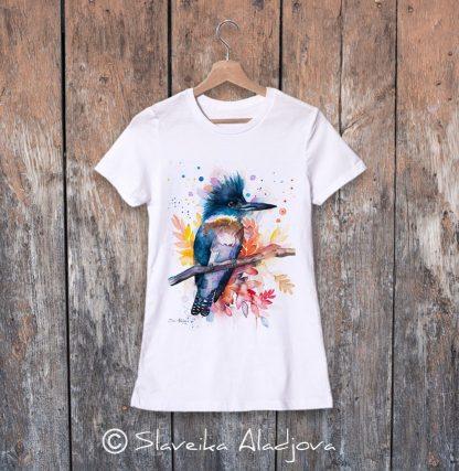 дамска тениска препасково земеродно рибарче