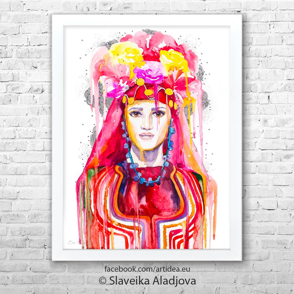 Картина с българската мома