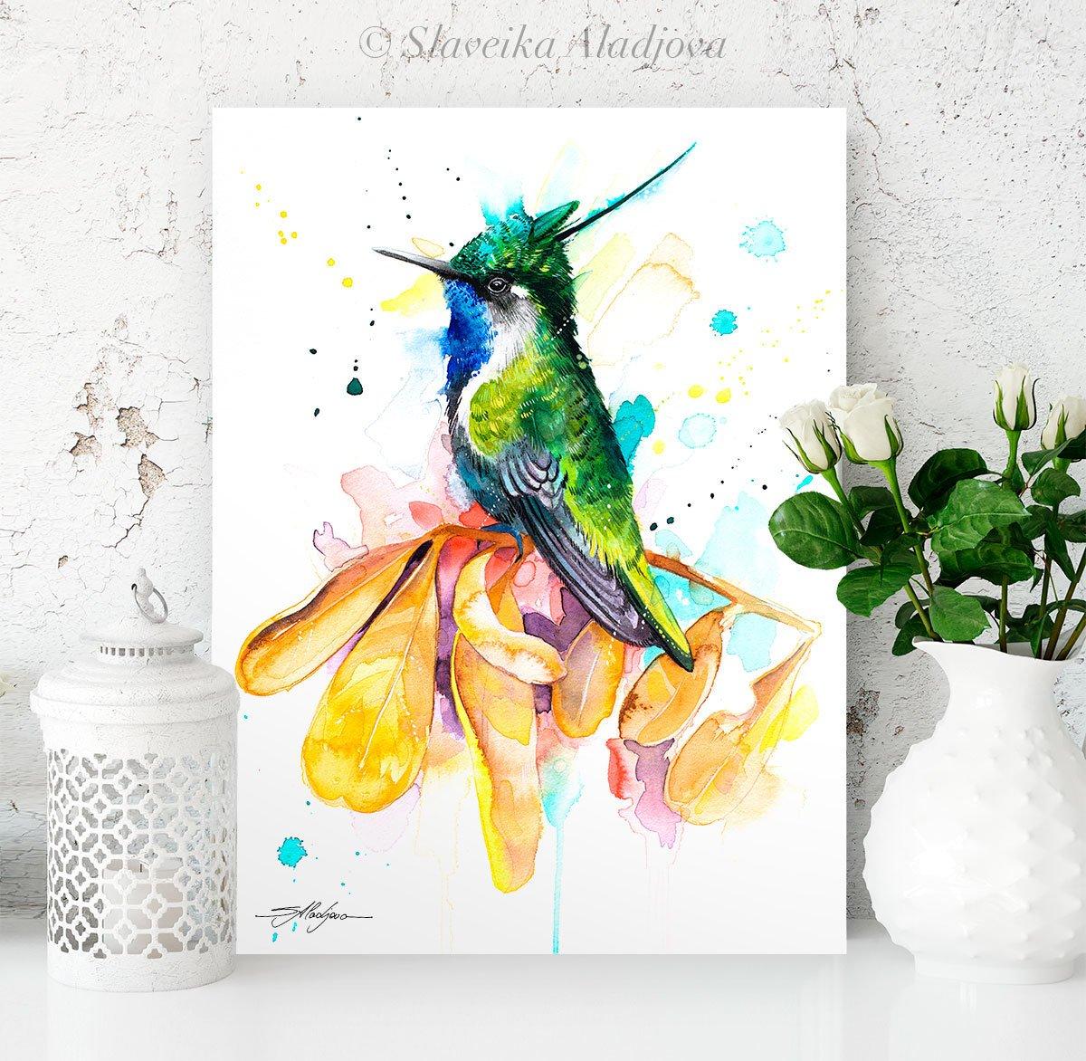 Картина с колибри