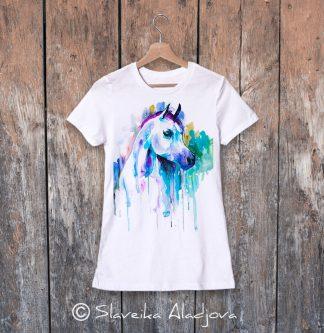 дамска тениска с арабски кон
