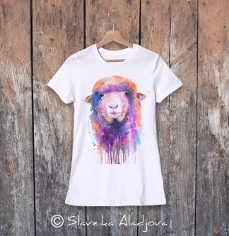 Дамска тениска с овца 1