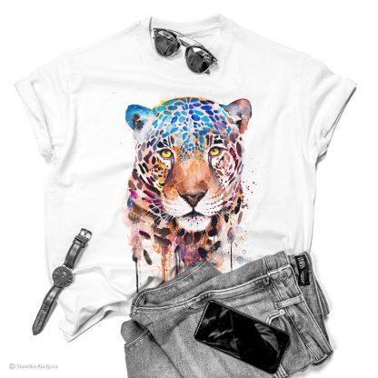 Тениска с ягуар
